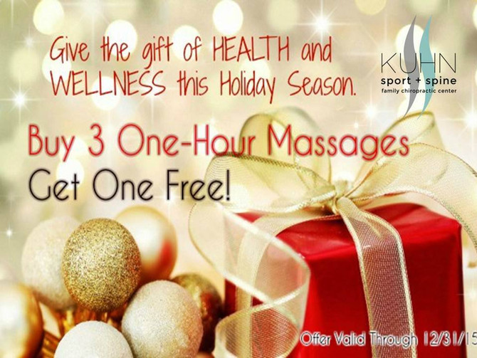 Free Massage for the Holidays!
