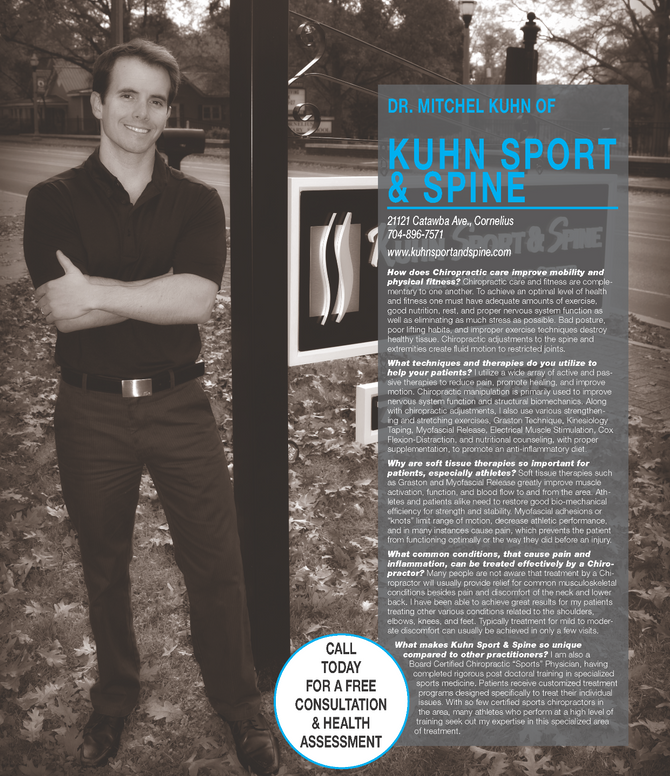 Q & A with Dr. Kuhn - Lake Norman Magazine January 2016