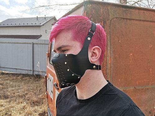 """Защитная маска """"GHOUl"""" из экокожи"""