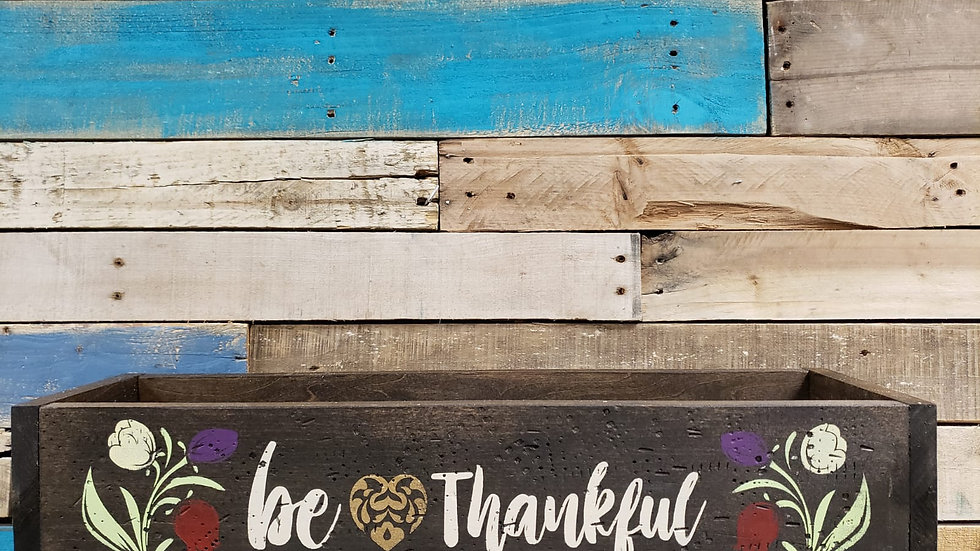 Be Thankful Planter Box