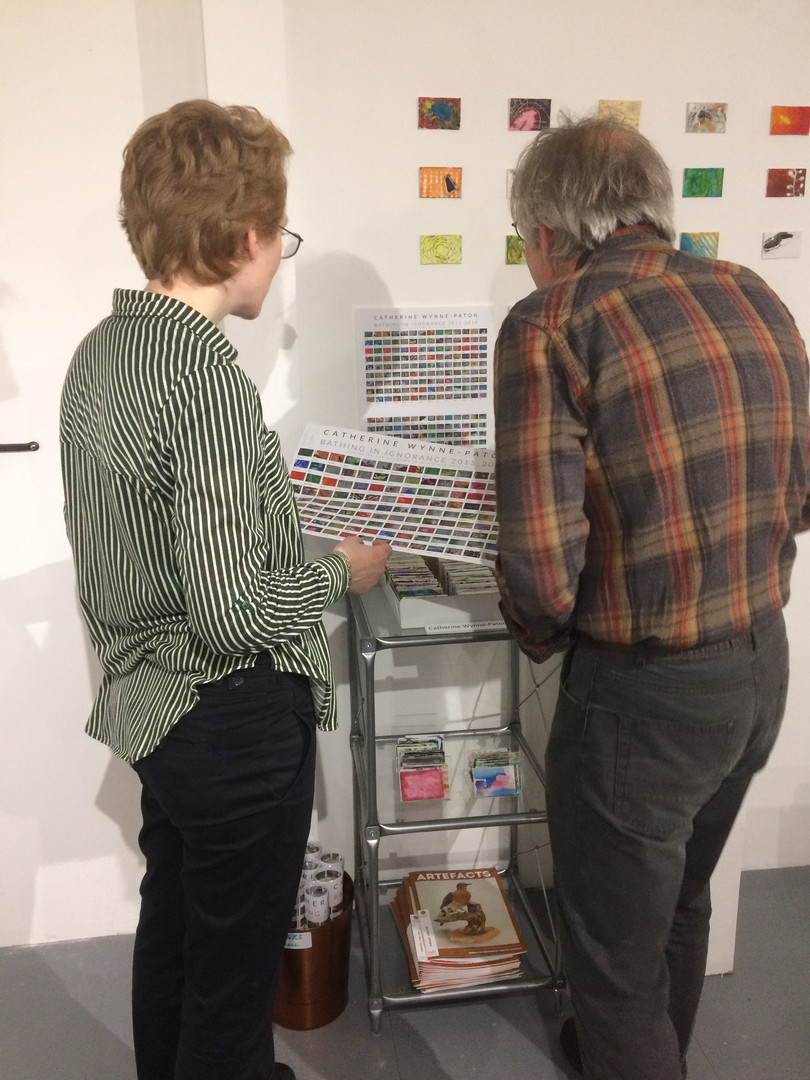 Talking about  word collection paintings