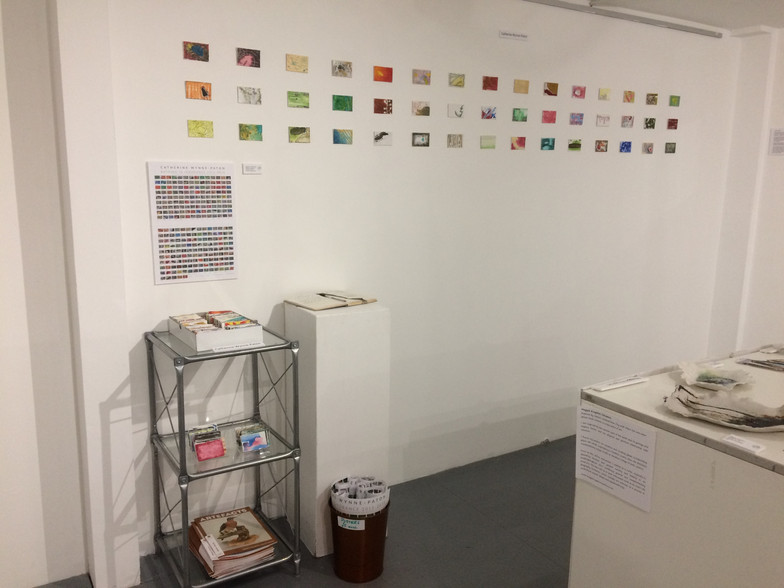 Installation view of word collection pai