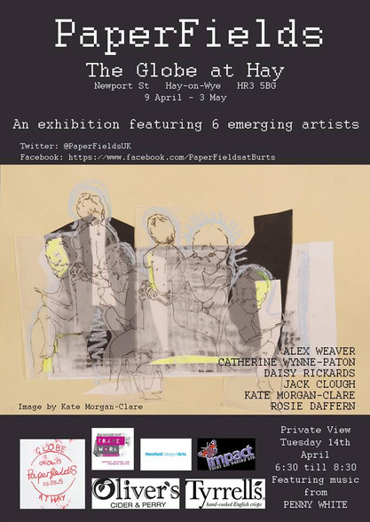 PaperFields exhibition flyer