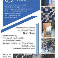 Next Steps Exhibition at The Apple Store Gallery, Hereford