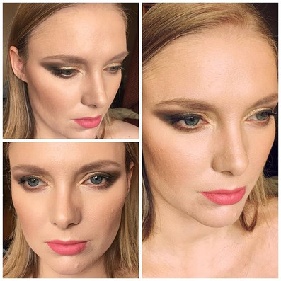 Gorgeous bride with wedding makeup. The