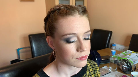 Gold Smokey Eye - Bridal Trial in Home Studio