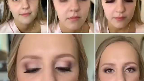Bridesmaid Makeup - Pink Smokey Eye