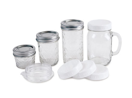 masonjar glass container single serving compatible ball and kerr brand