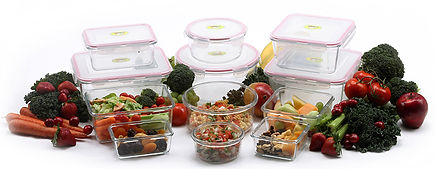 different sets useful compact glass container easy cleanupfruit vegetables food  snaplock lids