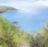 Coastal landscape painting by Amanda Hoskin