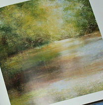 a painting of a river