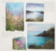 a photo of some watercolour sketches by Amanda Hoskin