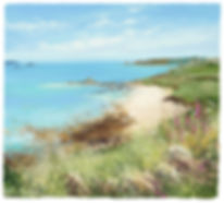 painting of the Scilly Isles by Amanda Hoskin