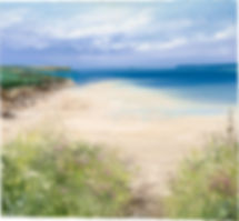 a painting of a beach by Amanda Hoskin