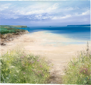 a painting of a beach by Amanda Hoskin