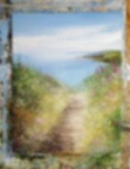 Original painting of cornish footpath by amanda Hoskin