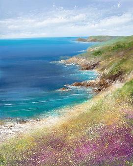 oil painting of cornish  coast by Amanda Hoskin