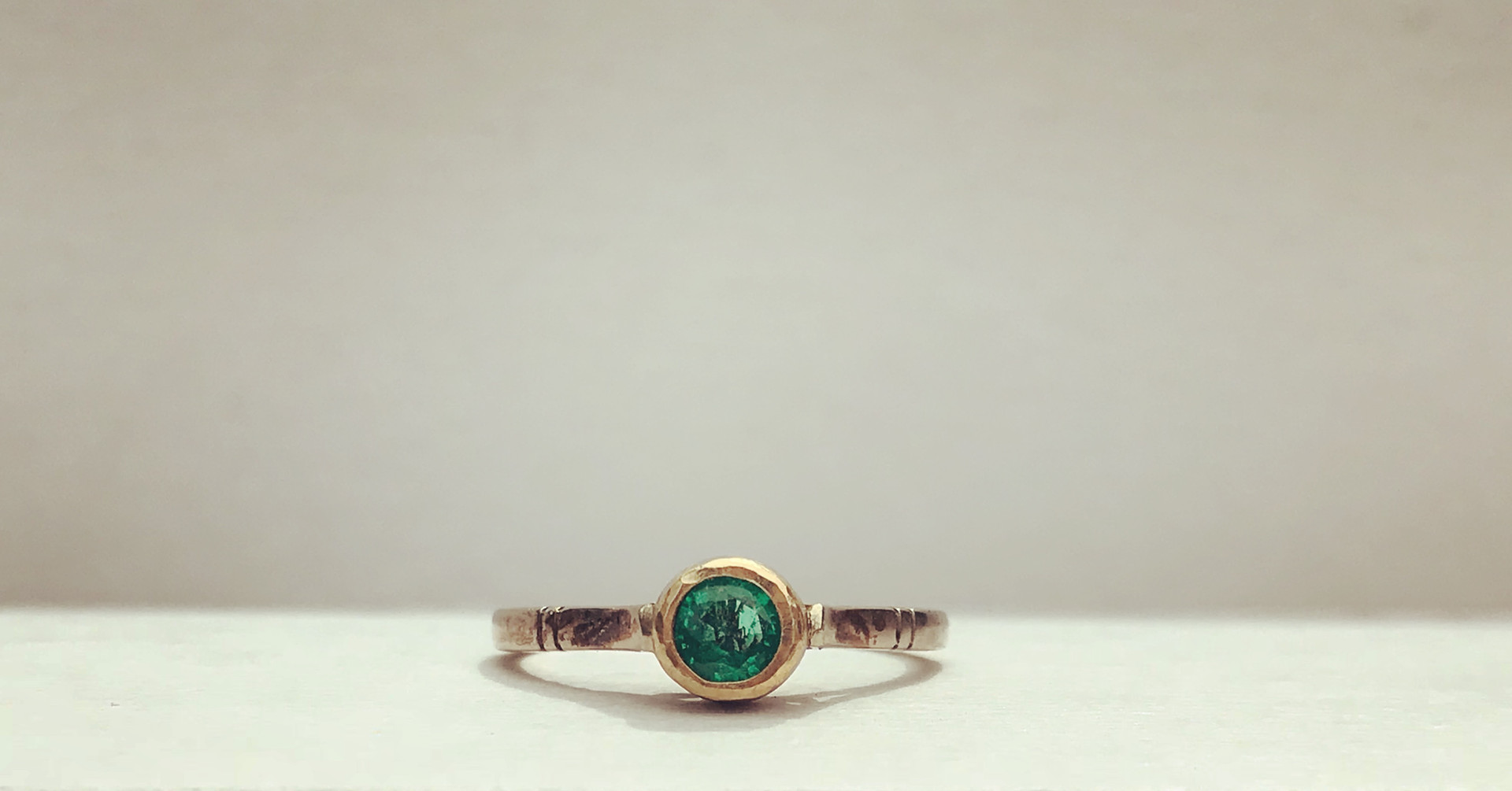 Emerald set in Yellow and White Gold