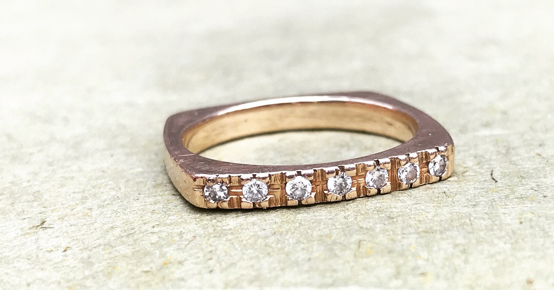 Diamonds in a Rose Gold Band
