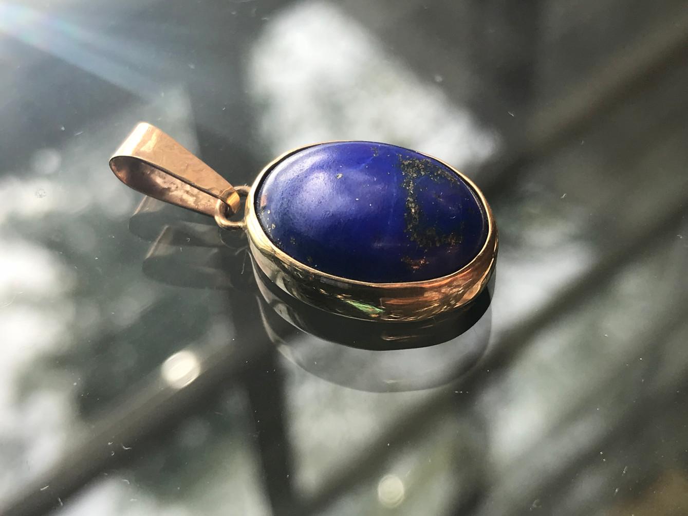 Lapis Lazuli set in Gold