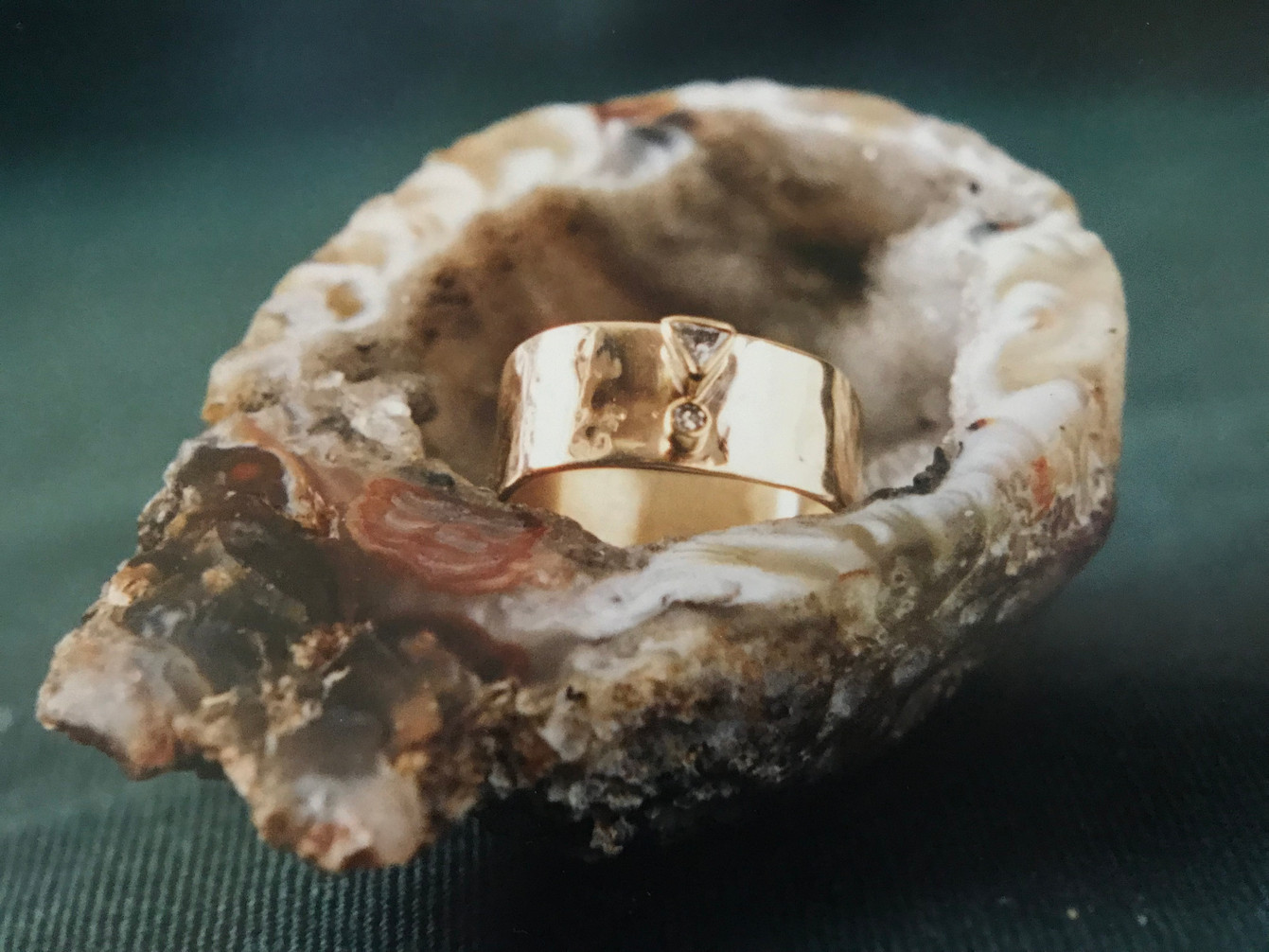 Diamonds set in a Yellow Gold Band