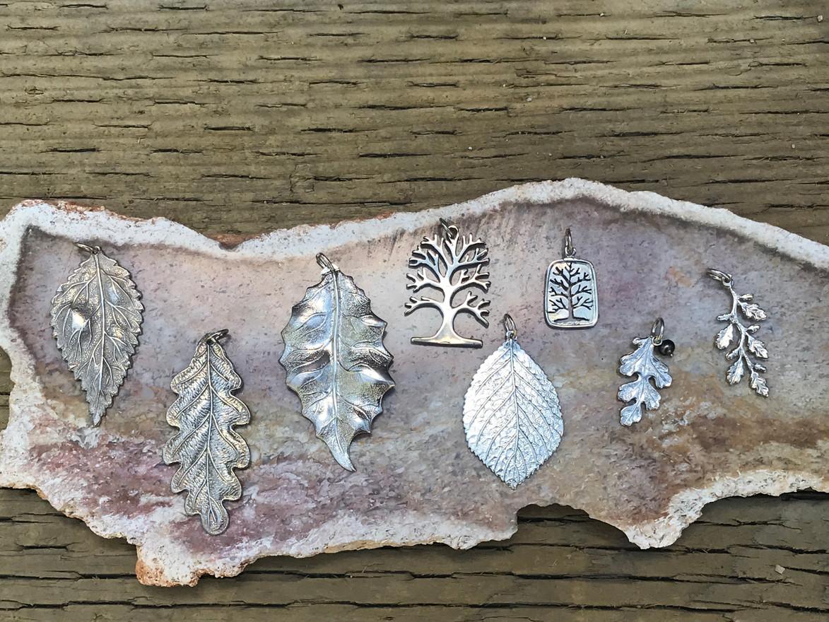 Sterling Silver Leaves