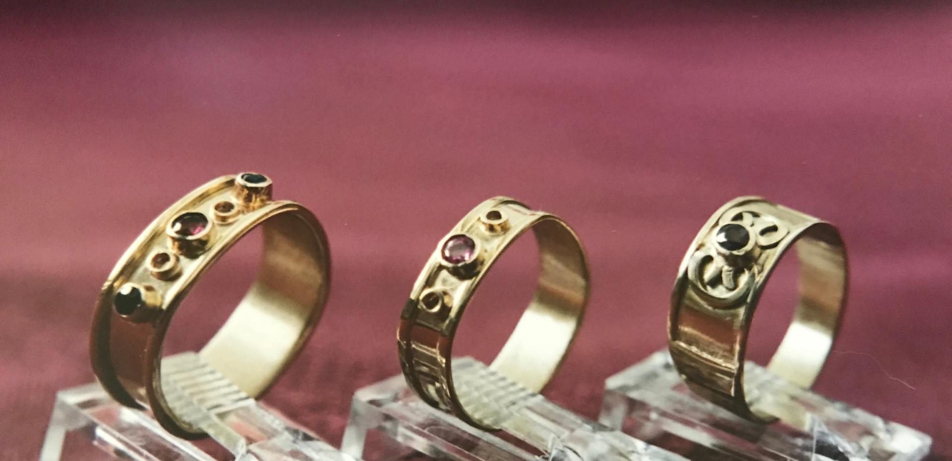 Garnets set in Gold