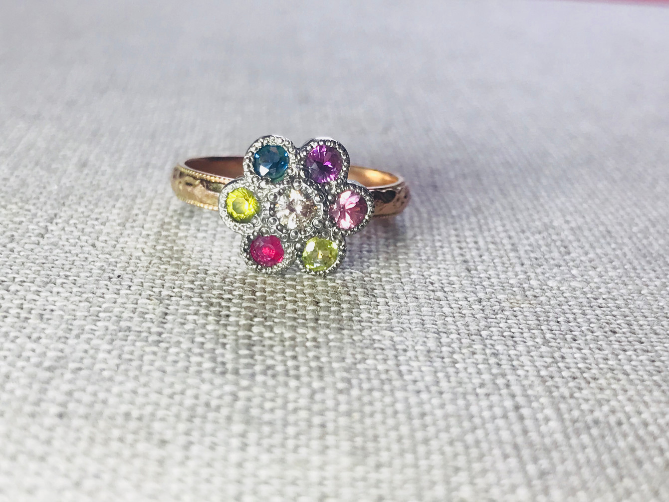 Multi-Coloured Sapphires set in Gold