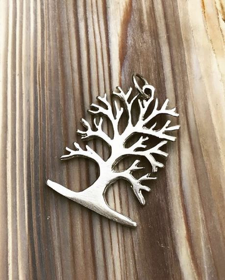 Sterling Silver Hand Carved Tree