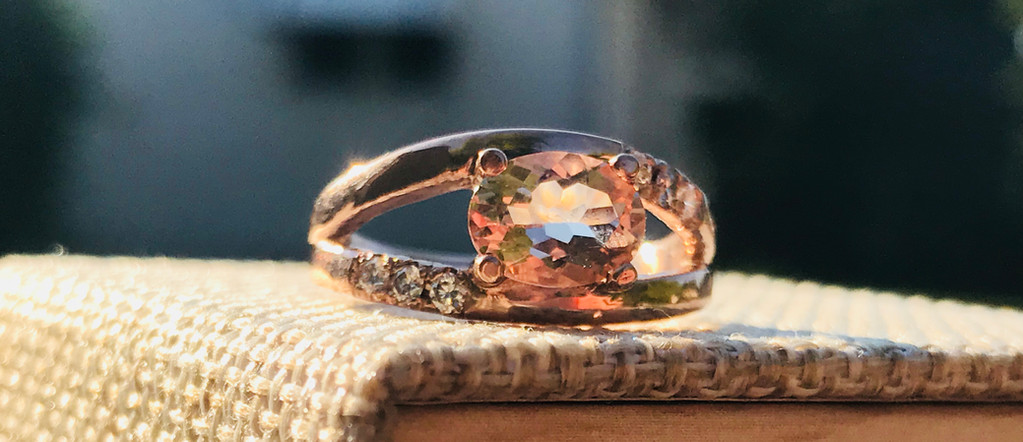 Morganite, Canadian Diamonds, and Rose Gold