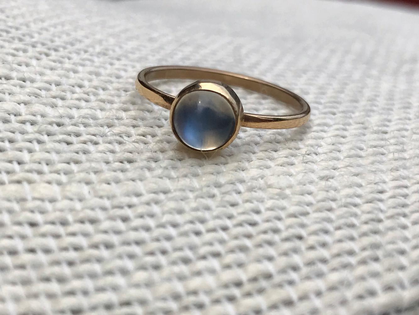 Blue Moonstone set in Gold