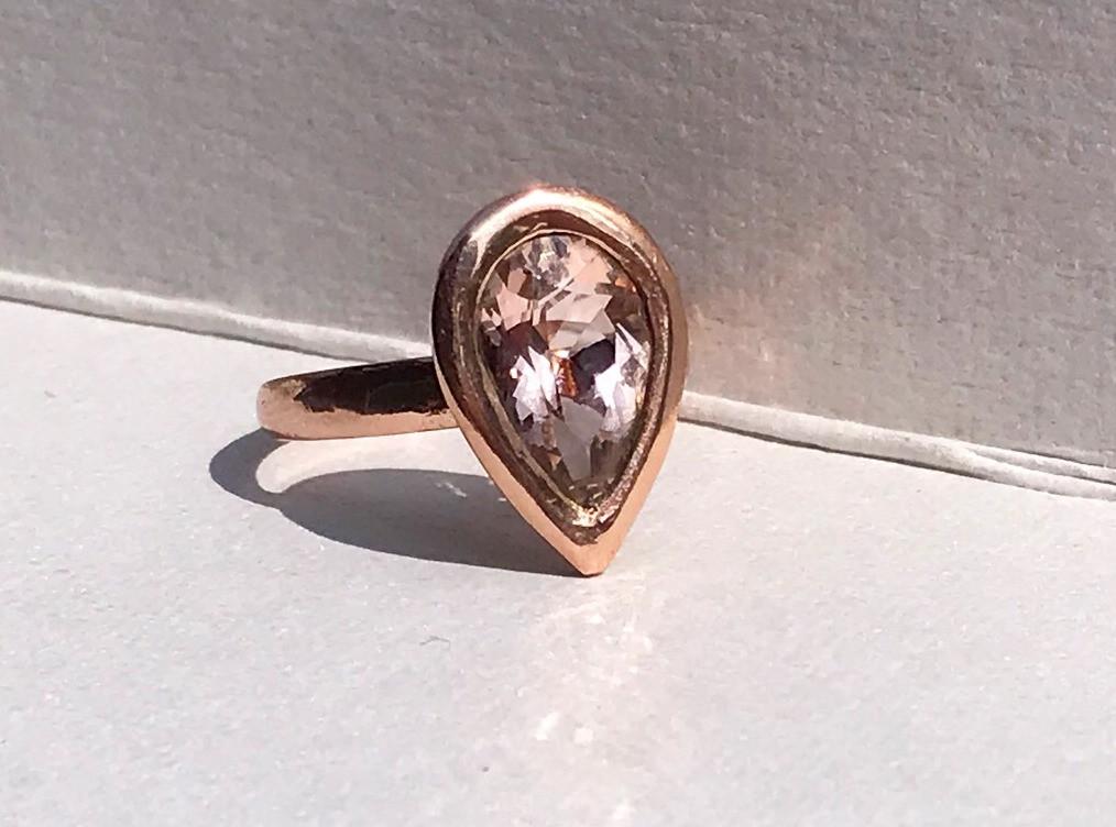 Morganite set in Rose Gold