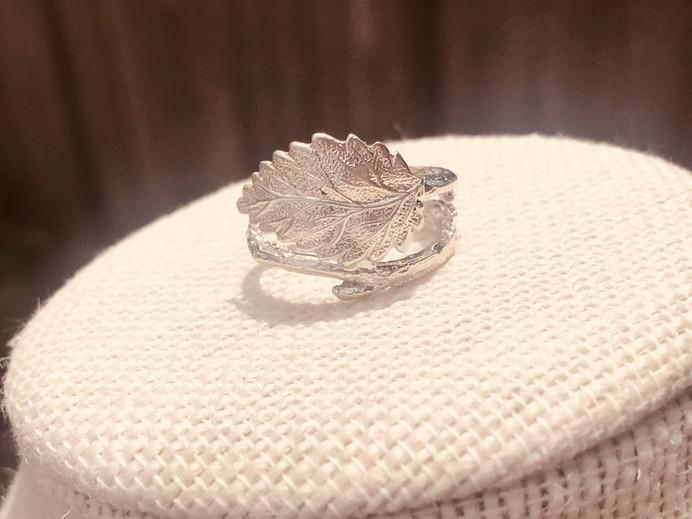 Sterling Silver leaf & branch Ring