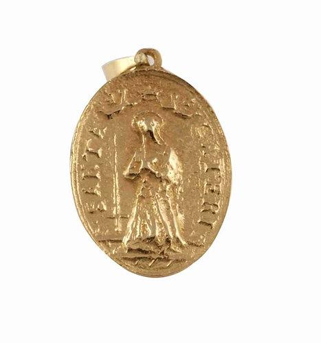 """Tortugas"" St. Catherine Gold Pendant"