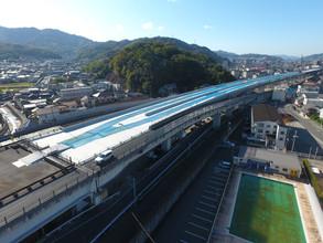 2020年12月 東広島バイパス曽田高架橋床版工事