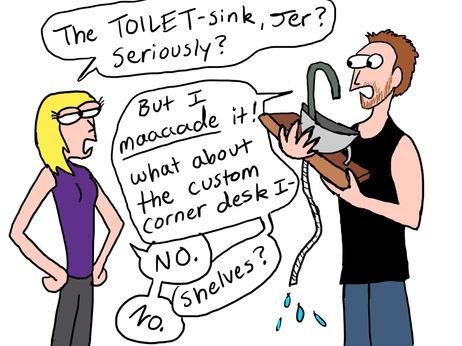 toilet sink cartoon