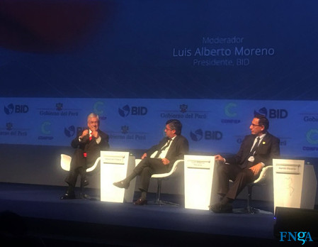 La FNGA junto a Luis Alberto Moreno, presidente del BID