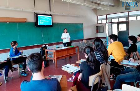 FNGA presenta su modelo de Hermanamiento en la facultad