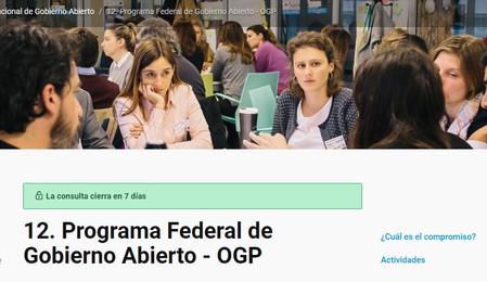 Consulta Pública del Cuarto Plan Nacional de #GobiernoAbierto