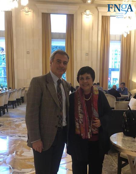 Junto a Nurmala Kartini, ex Embajadora de Indonesia