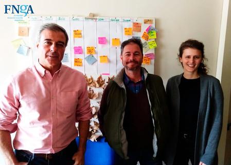 Reunión con Mario Parodi, impulsor de los clubesHuella Ecológica