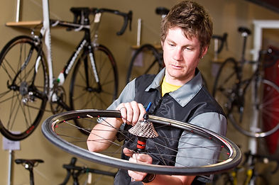bicycle shop rental, artisan shops, crafters