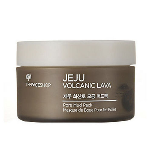 [The FACE Shop] Jeju Volcanic Lava Pore Mud Pack 100ml.