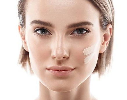 63467839-skin-tone-cream-lines-on-woman-