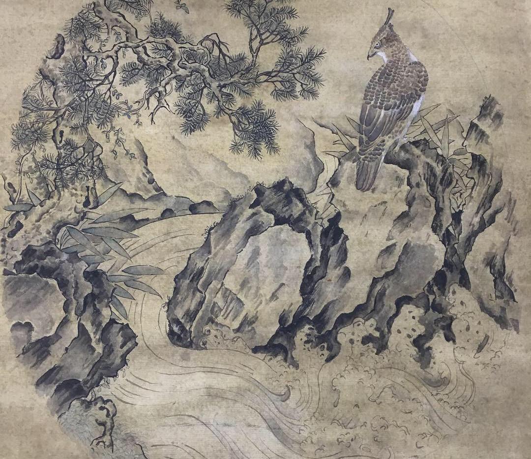 松泉山鸡图 Quanshan Pine and Bird Copy