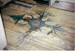 Custom floor mural.jpg.jpg.jpgacrylics on sanded wood floor, covered with a marine sealant