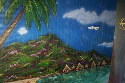 1st panel of Custom Beach Mural.jpg.jpg.jpgacrylics on 6' plastic roll-up screen shade