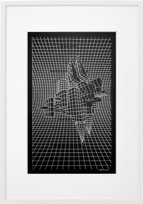 #0054 - GRID SPACE 02 , A3 PRINT
