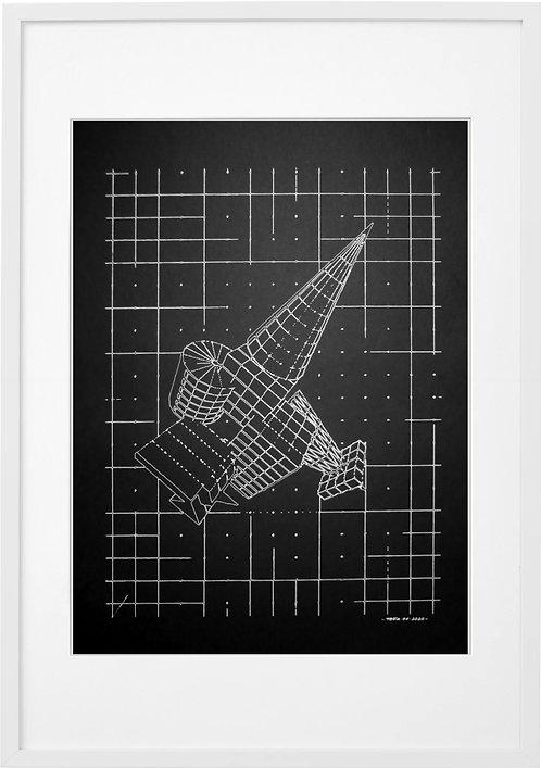 #0053 - GRID SPACE 01 , A3 PRINT