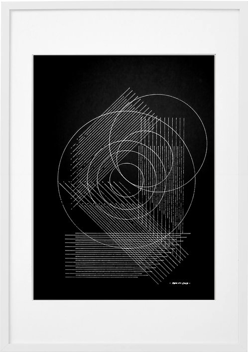 #0073 - LINES AND CIRCLES, A3 PRINT